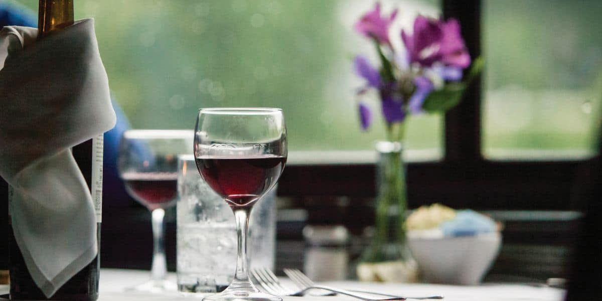 Cafe Lafayette Dinner Train Wine