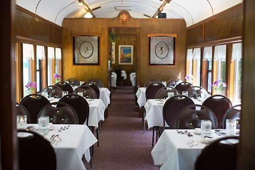 Cafe Lafayette Dinner Train Dining Tables